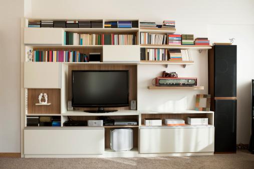 棚「テレビウォールユニットのブックシェルフ」:スマホ壁紙(3)