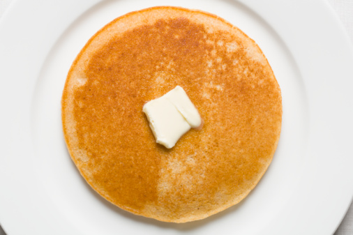 Pancake「Pancake and butter on plate」:スマホ壁紙(11)