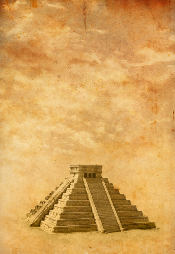Sepia Toned「Old photo of Chichen Itza」:スマホ壁紙(2)