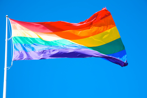 Equality「Rainbow flag at Harvey Milk Plaza, San Francisco, California」:スマホ壁紙(9)