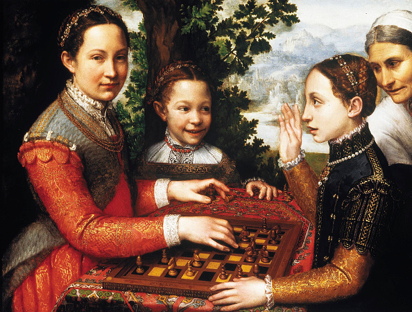 Art Product「The Chess Game (Portrait Of The Artists Sisters Playing Chess),」:写真・画像(7)[壁紙.com]