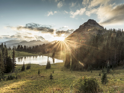 Wilderness Area「MT.Rainier in sunset」:スマホ壁紙(7)
