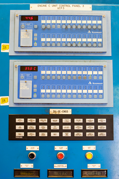 Greenhouse Gas「The control panels for the biogas boilers at Daveyhulme wastewater treatment plant in Manchester, UK. United Utilities Daveyhulme plant process's all of Manchester sewage and deals with 714 million litres a day. The sewage sludge from the plant is put in」:写真・画像(15)[壁紙.com]