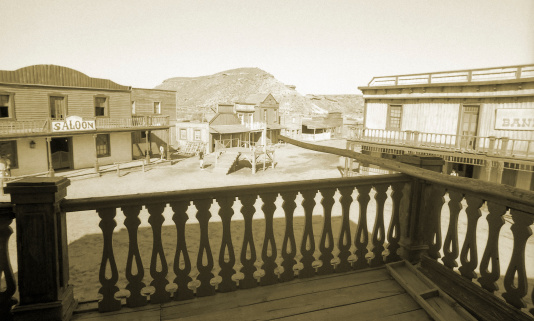 Sepia Toned「Wild West, old wooden buildings, houses, sepia toned」:スマホ壁紙(12)