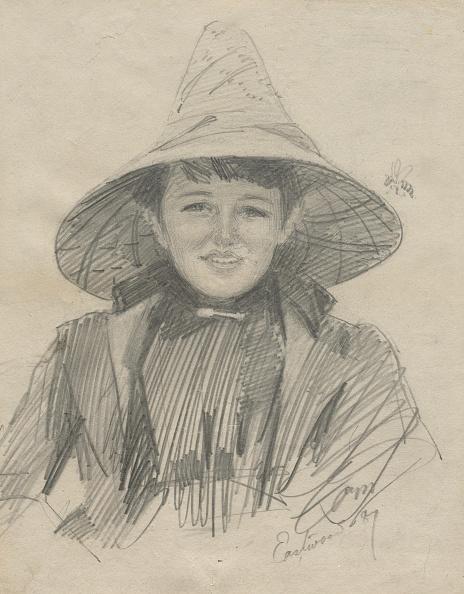Pencil「Ada Lymon (Woman In A Large Hat)」:写真・画像(5)[壁紙.com]