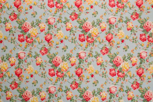 Floral Pattern「Francine Floral Medium Vintage Fabric」:スマホ壁紙(10)