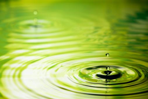 Rippled「Drop into Green - Water Nature Ripple」:スマホ壁紙(6)