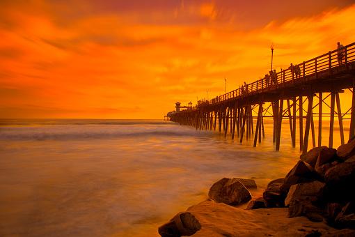 ビーチ「Pier Oceanside」:スマホ壁紙(7)