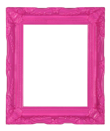 Girly「Pink decorative picture frame」:スマホ壁紙(19)