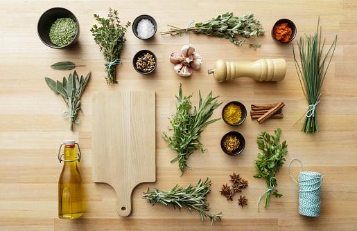Thyme「Seasoning: Herbs and Spices Still Life」:スマホ壁紙(6)