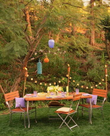Party - Social Event「Festive outdoor table setting」:スマホ壁紙(6)