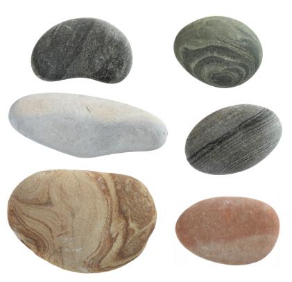 Rock - Object「isolated pebbles stone」:スマホ壁紙(14)