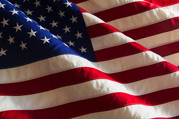 Detail of US flag, studio shot:スマホ壁紙(壁紙.com)