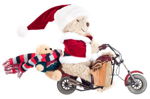 Motorcycle「Santa with Baby Bear on Motorbike」:スマホ壁紙(16)