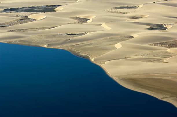 Atlantic ocean meet the namib dunes:スマホ壁紙(壁紙.com)