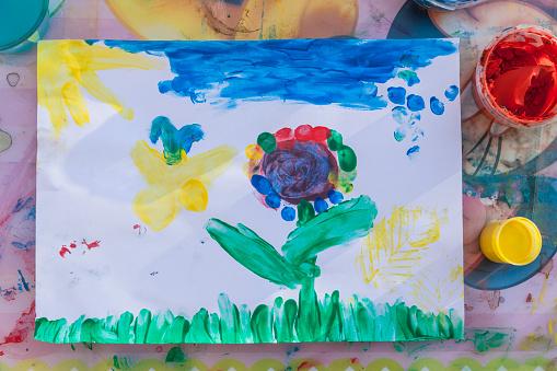 子供時代「Childs drawing」:スマホ壁紙(13)