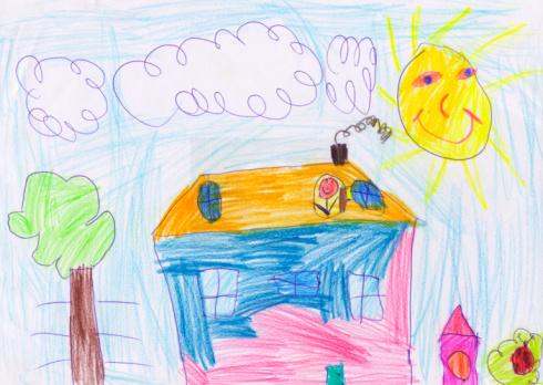 アート「子供の絵ホーム」:スマホ壁紙(6)