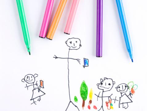 朗らか「子供の絵」:スマホ壁紙(9)
