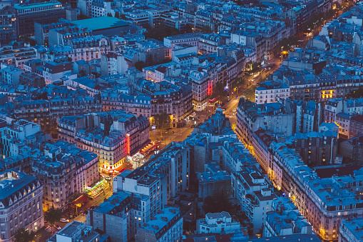 Aerial View「Paris streets at evening」:スマホ壁紙(18)