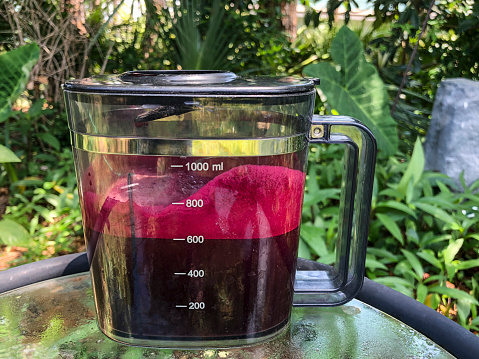 Vegetable Juice「A pitcher of freshly juiced vegetable and fruit juice on a table in the lanai」:スマホ壁紙(13)