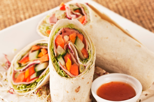 Chili Sauce「Vegetable and meat wraps with sweet chilli sauce.」:スマホ壁紙(8)