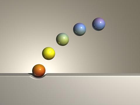 虹「Rainbow coloured spheres」:スマホ壁紙(12)