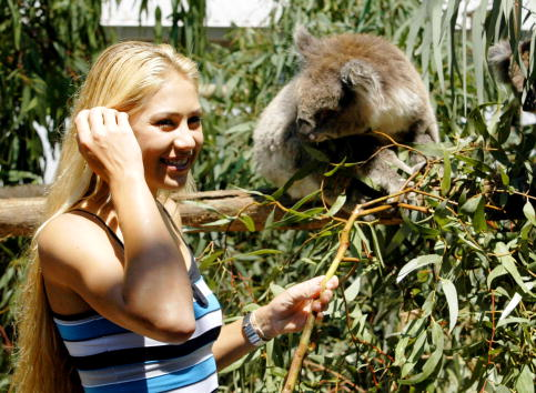 Melbourne Zoo「Anna Kournikova Visits The Melbourne Zoo」:写真・画像(5)[壁紙.com]