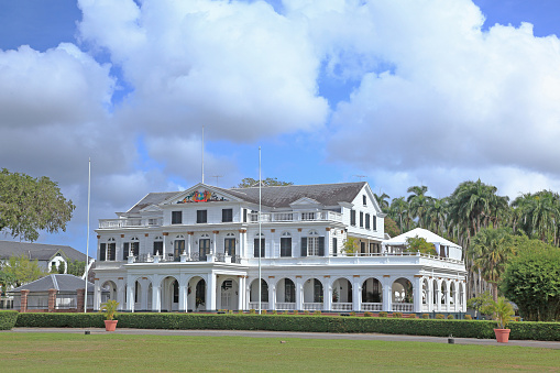 Presidential Palace「The Presidential Palace in Paramaribo (capital of Suriname).」:スマホ壁紙(19)