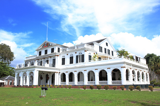 Presidential Palace「The Presidential Palace in Paramaribo (capital of Suriname).」:スマホ壁紙(9)