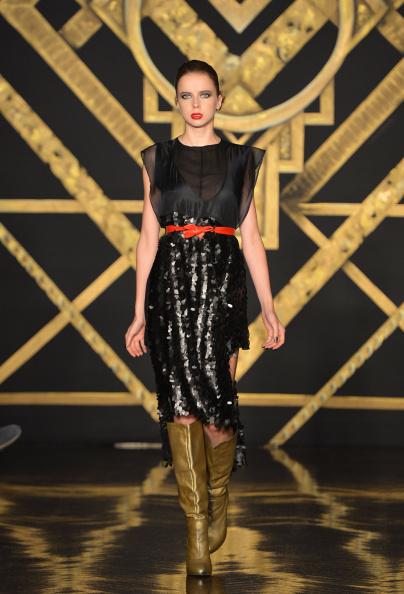 Leather Boot「Kithe Brewster - Runway - Mercedes-Benz Fashion Week Spring 2015」:写真・画像(3)[壁紙.com]