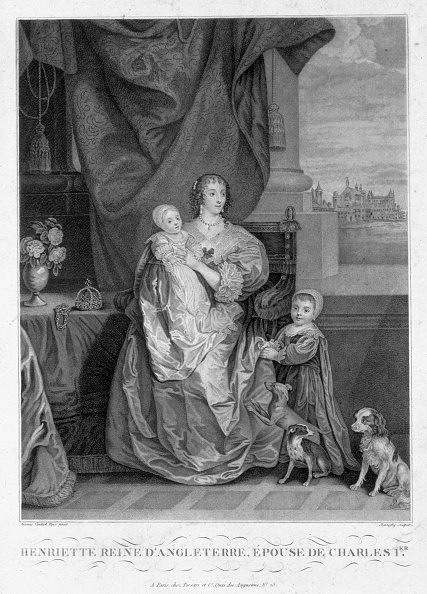 Stuart C「Henrietta Maria Queen Of King Charles I Of England With Two Of Their Children circa 1630s (1880s)」:写真・画像(13)[壁紙.com]