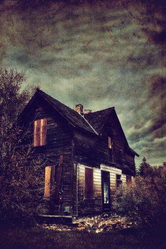 ハロウィン「お化け屋敷」:スマホ壁紙(6)