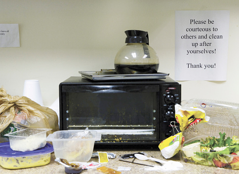 Unhygienic「Untidy office kitchen area」:スマホ壁紙(0)
