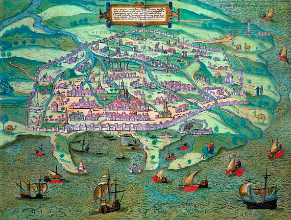Physical Geography「Map Of Alexandria Egypt circa 1572」:写真・画像(3)[壁紙.com]