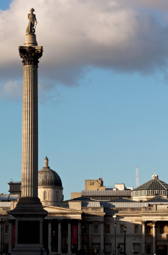 Battle「View From Whitehall Of Nelson's Column And National Gallery At Trafalgar Square」:スマホ壁紙(13)