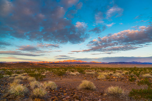 山岳地帯「USA, Nevada, Landscape with desert and moody sky」:スマホ壁紙(11)