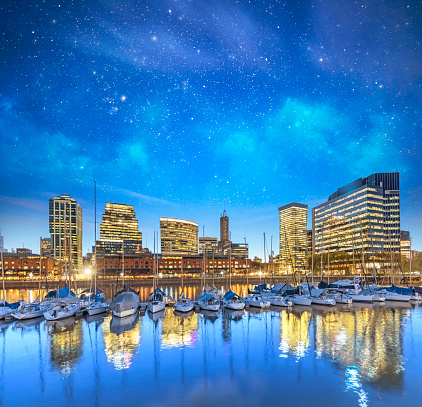 Buenos Aires「Argentina Buenos Aires skyline Puerto Madero at night」:スマホ壁紙(0)