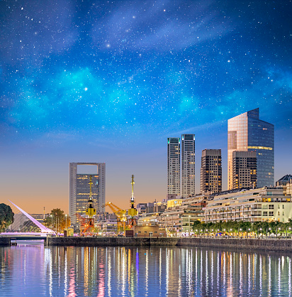 Buenos Aires「Argentina Buenos Aires skyline Puerto Madero at night」:スマホ壁紙(9)