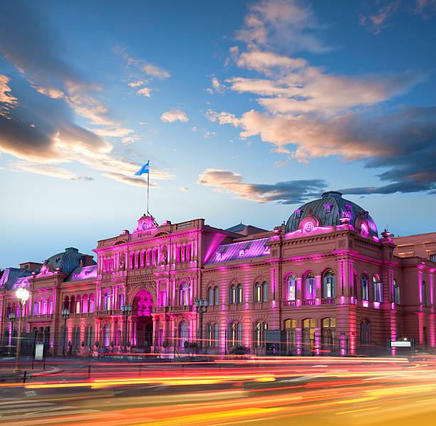 Argentina Buenos Aires Casa Rosada at night:スマホ壁紙(壁紙.com)
