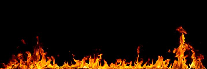 Burnt「Fire isolated on black」:スマホ壁紙(15)