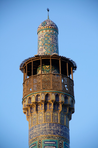 Iranian Culture「The minaret of Imam mosque in Esfahan」:スマホ壁紙(2)