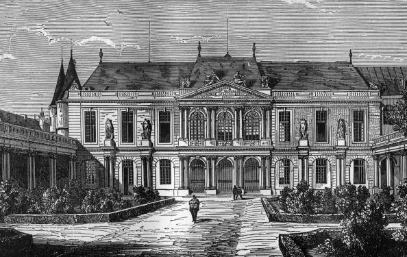 Townhouse「Courtyard of Soubise townhouse in Paris, 18th century, engraving」:写真・画像(18)[壁紙.com]