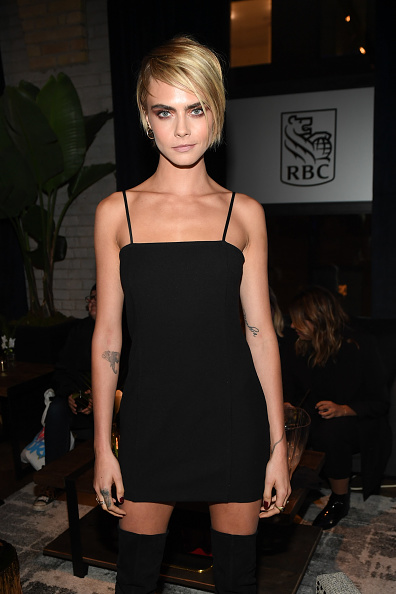 "Cara Delevingne「RBC Hosted ""Her Smell"" Cocktail Party At RBC House Toronto Film Festival 2018」:写真・画像(3)[壁紙.com]"
