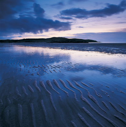 Achnahaird Beach「Ripples in sand on beach」:スマホ壁紙(0)