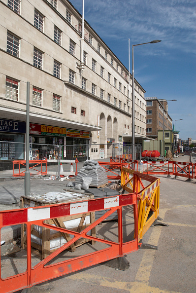 Construction Material「Re-development of the streets in Leicester for easier pedestrian access, Leicester, UK」:写真・画像(13)[壁紙.com]