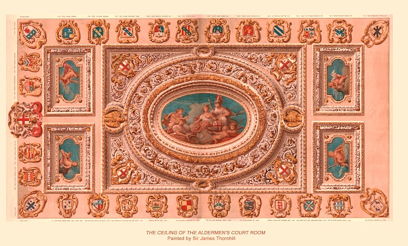 Bright「The Ceiling Of The Aldermens Court Room, 1886」:写真・画像(1)[壁紙.com]