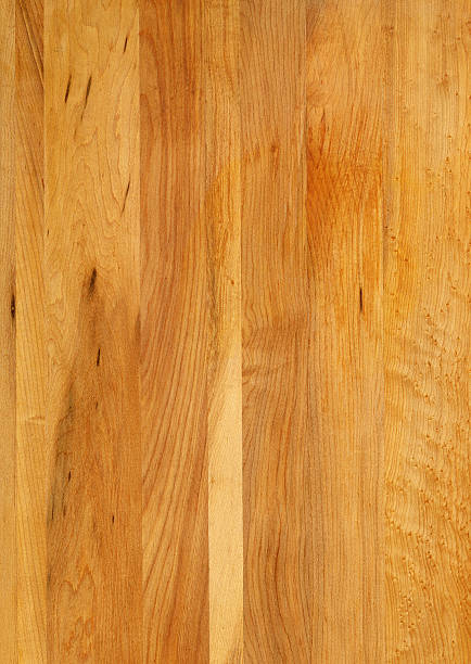 Maple wood grain butcher block background:スマホ壁紙(壁紙.com)