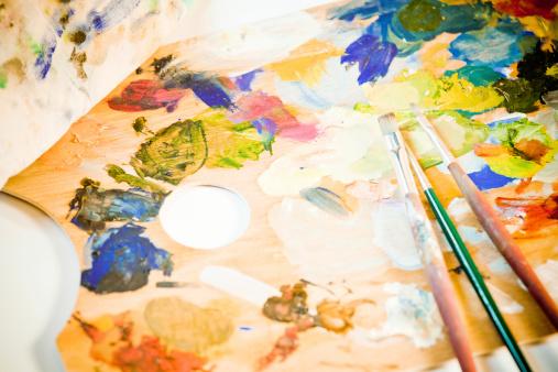 Painter - Artist「Artist's Toold, Palette and Brushes」:スマホ壁紙(18)