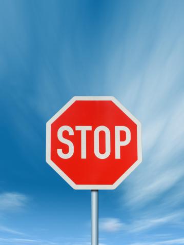 Heidelberg - Germany「Stop - Traffic Sign with deep blue Sky」:スマホ壁紙(6)