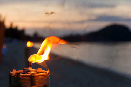 Spirituality「Thailand, Tiki torch, close up」:スマホ壁紙(9)